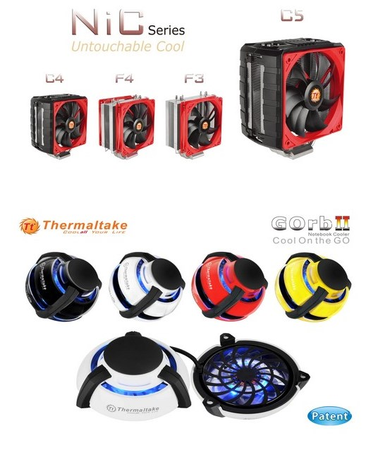 ThermalTake coolers at CES