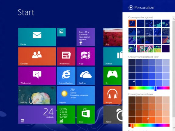 Microsoft Windows Blue build 9364 screenshot