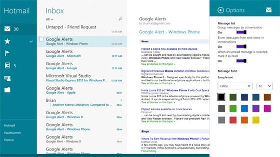 Windows 8.1 mail app