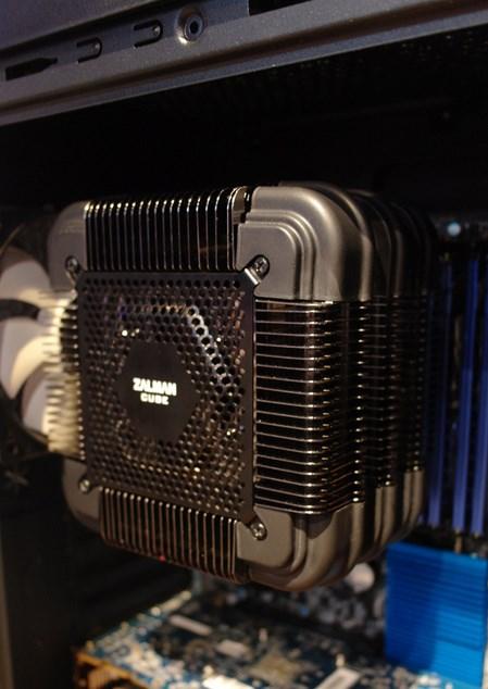 Zalman showcases passive FX100 Cube CPU cooler