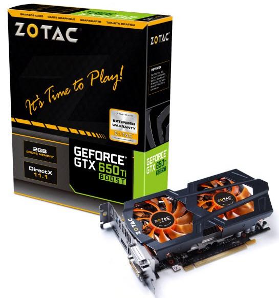 Zotac GeForce GTX 650 Ti Boot