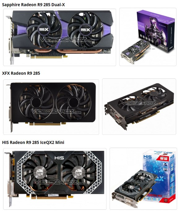 AMD Radeon R9 285 cards