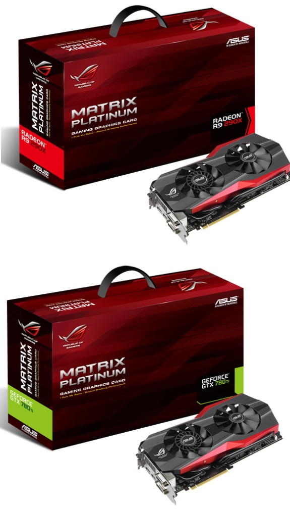ASUS Republic of Gamers Matrix R9 290X and GTX 780 Ti