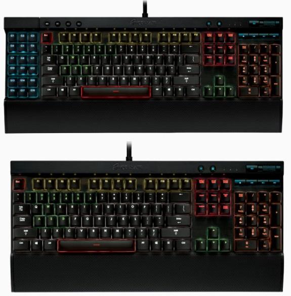 Corsair K70 and K95