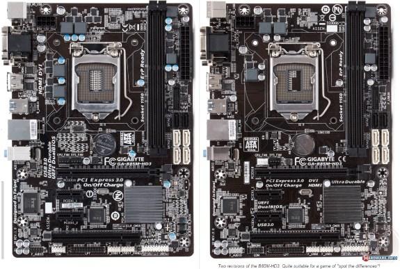 Gigabyte B85M-HD3 revisions