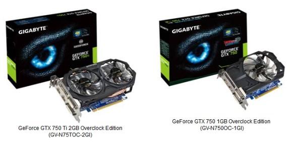 Gigabyte GeForce GTX 750 series