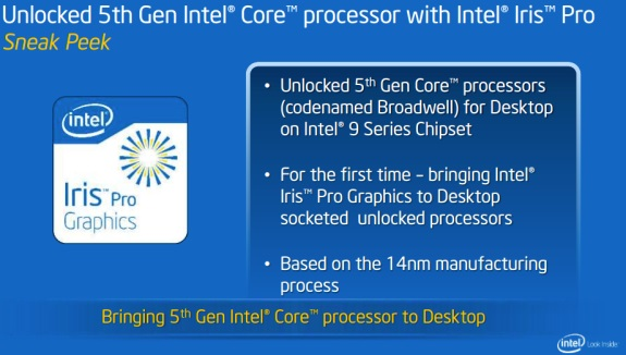 Intel Broadwell slide