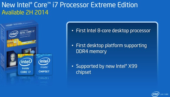 Intel Haswell E slide