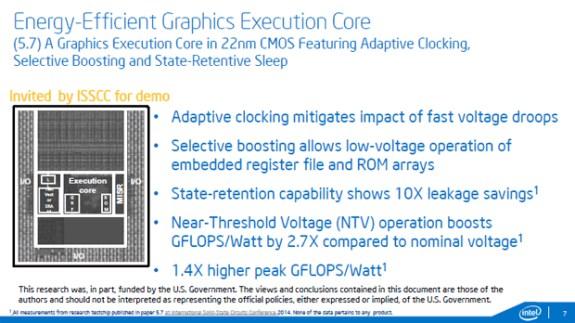 Intel LP 22nm graphic core