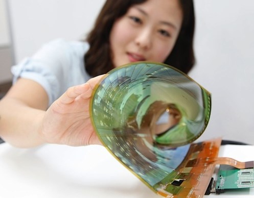 LG flexible screen