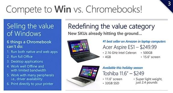 MS plan against Chromebooks
