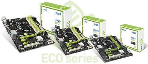 MSI ECO motherboards