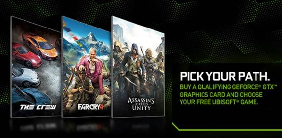 NVIDIA Pick Your Path game bundle