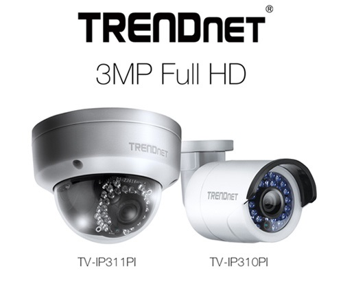 TRENDnet 3MP IP cameras