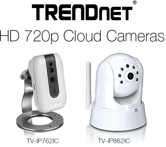 TRENDnet 720p cloud cameras at CES 2014
