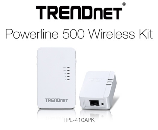 TrendNET Powerline 500 wireless kit