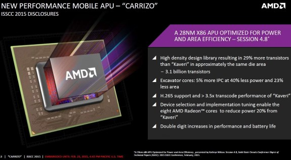AMD Carrizo overview