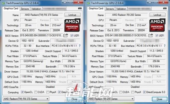 AMD 370X specs