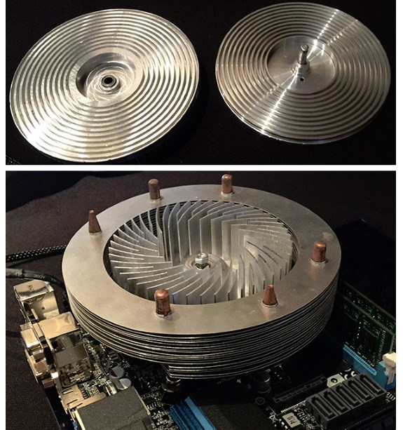 CM rotating heatsink