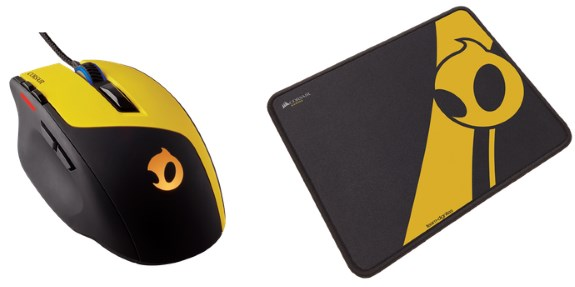 Corsair Team Dignitas Edition gaming mouse and mat
