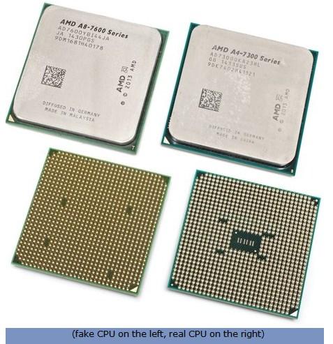 AMD fake CPUs