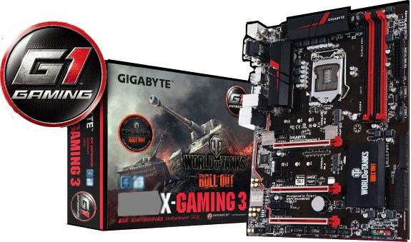 Gigabyte mobo with World of Tanks branding