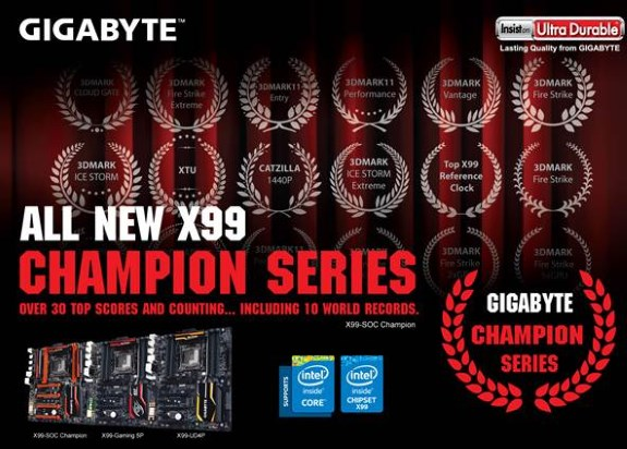 Gigabyte X99 Champion Series Motherboards
