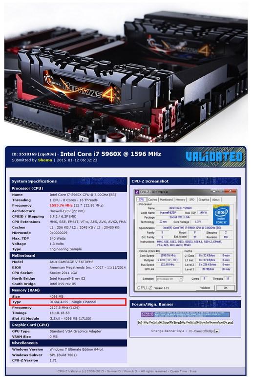 GSkill DDR4 OC record
