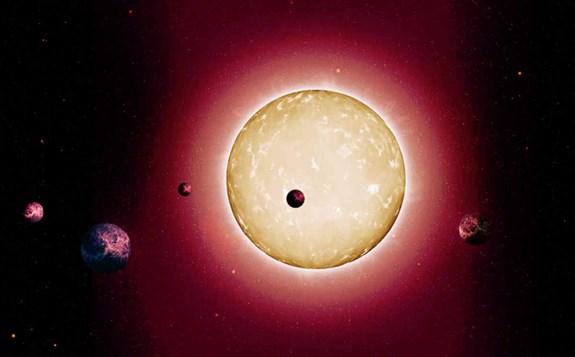 Artist rendering of Kepler-444
