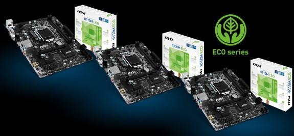MSI ECO series motherboards