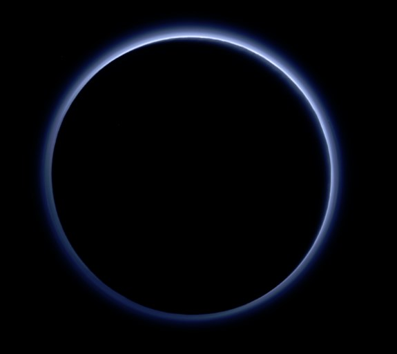 Pluto skies