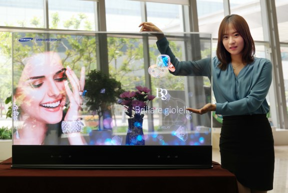 Samsung see through OLED