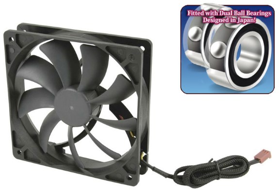 Scythe releases Slip Stream 120 DB Fans with Dual Ball Bearing and long life span