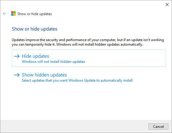 Windows 10 automatic update disabler