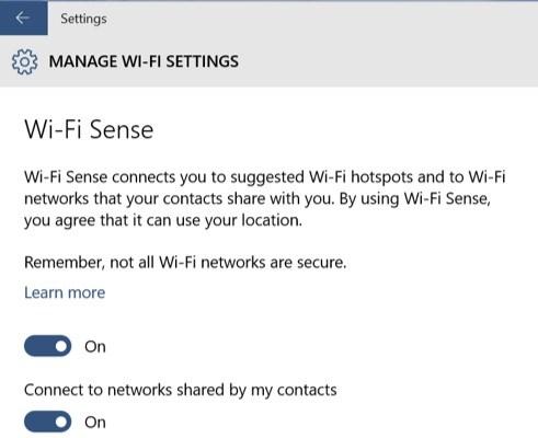 Microsoft WiFi Sense