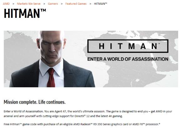 AMD Hitman bundle