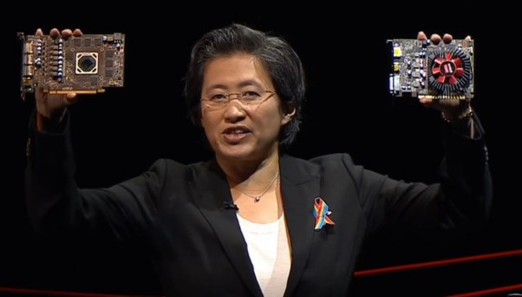 Lisa Su with RX 470 and RX 460
