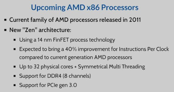 AMD 32 cores Zen
