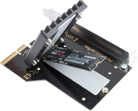 aquacomputer M2 SSD cooling