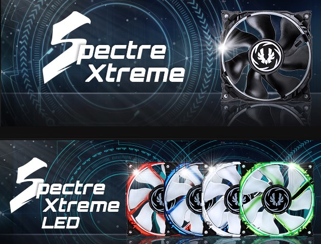 BitFenix Spectre LED fan and usual one