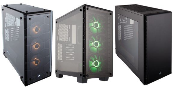 three new cases from Corsair