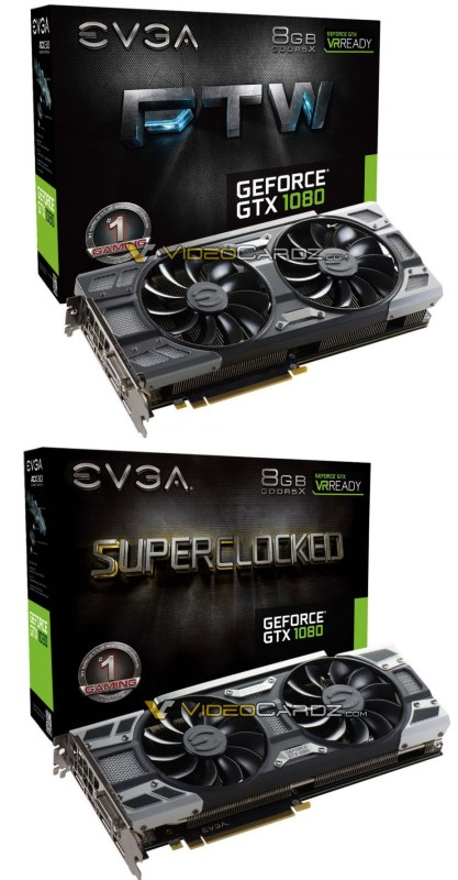 EVGA GTX 1080 cards