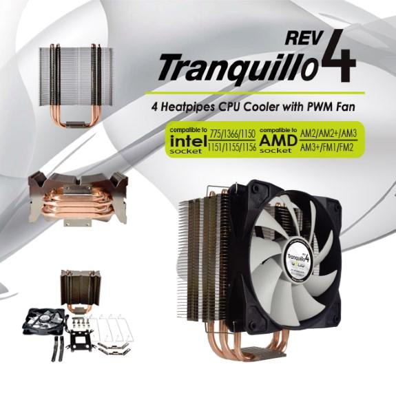 GELID  Rev.4 Tranquillo CPU Cooler