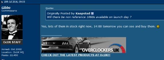 GTX 1060 in stock