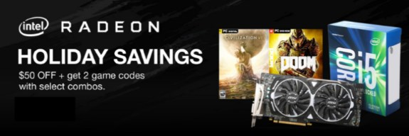 Radeon Intel game offer