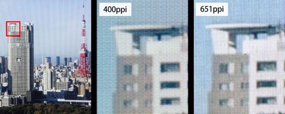651ppi JDI panel for VR
