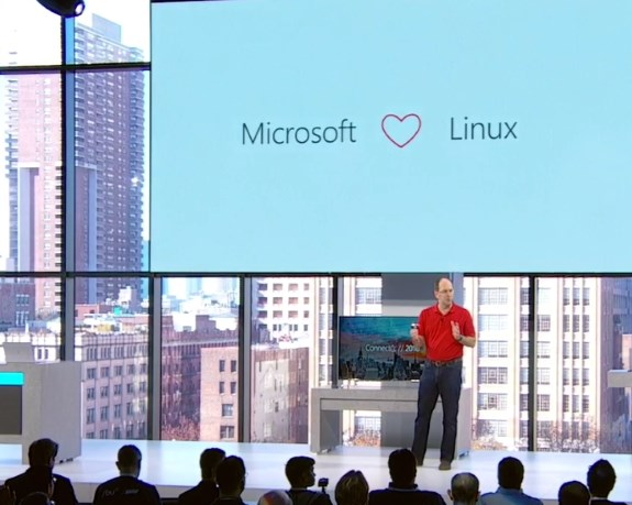 MS showing Linux love