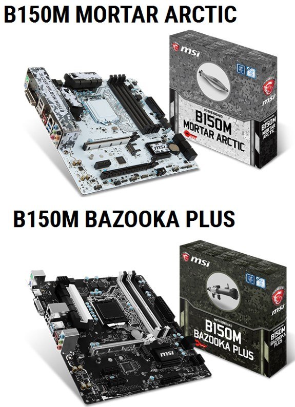 B150M BAZOOKA PLUS and B150M MORTAR ARCTIC