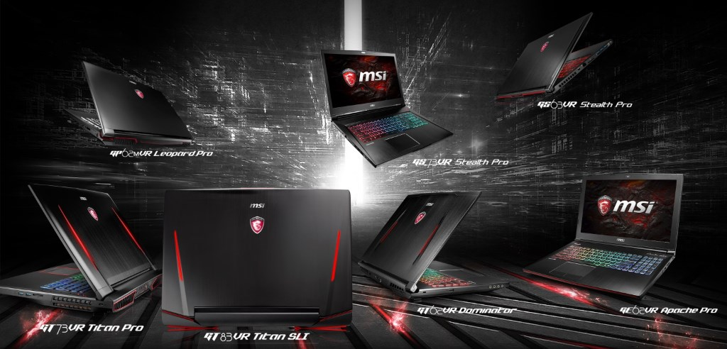 MSI VR laptops