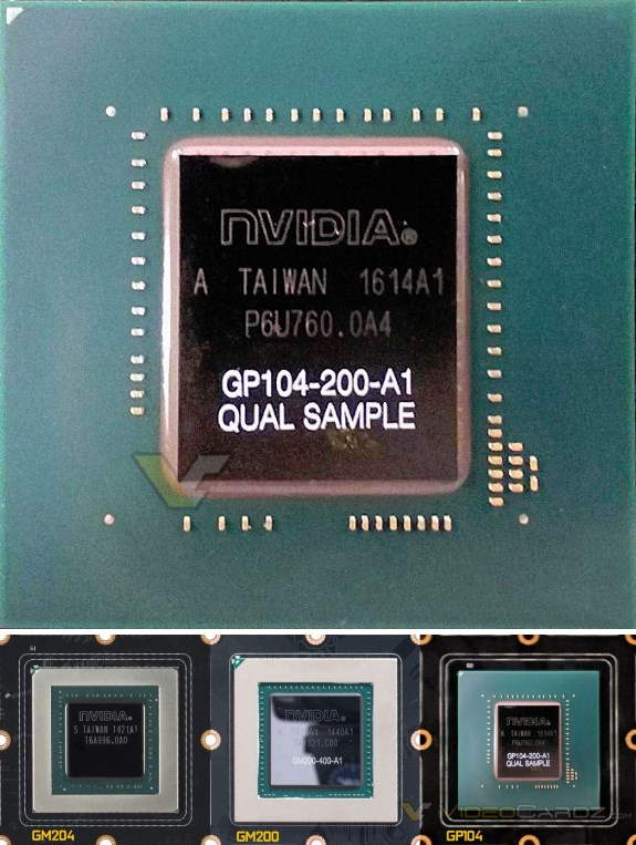 NVIDIA GP104 GPU closeup